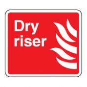 Fire Safety Sign - Fire Dry Riser Text 026